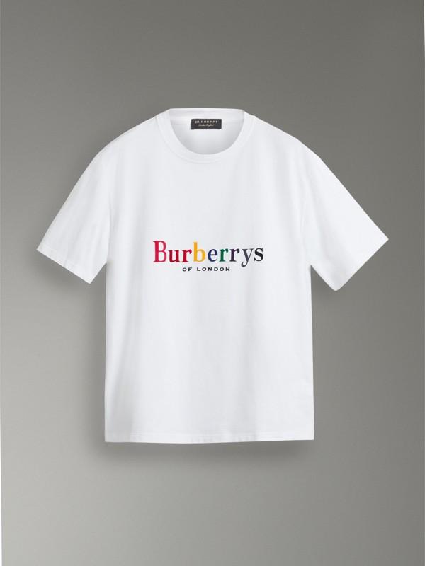 Reissued Cotton T-shirt in White - Men | Burberry Australia - cell image 3