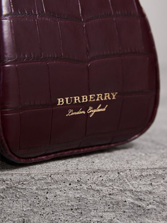 Mini Alligator Frame Bag in Dark Claret - Women | Burberry United Kingdom - cell image 1