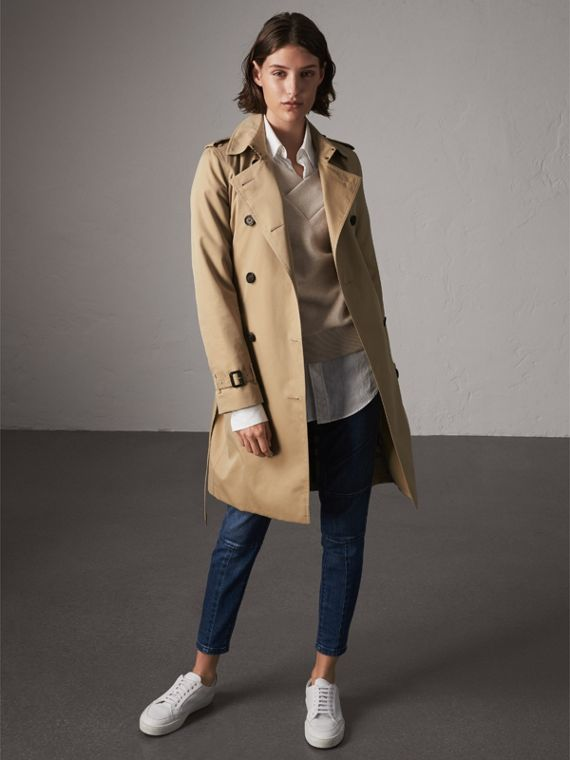 The Kensington – Long Heritage Trench Coat in Honey