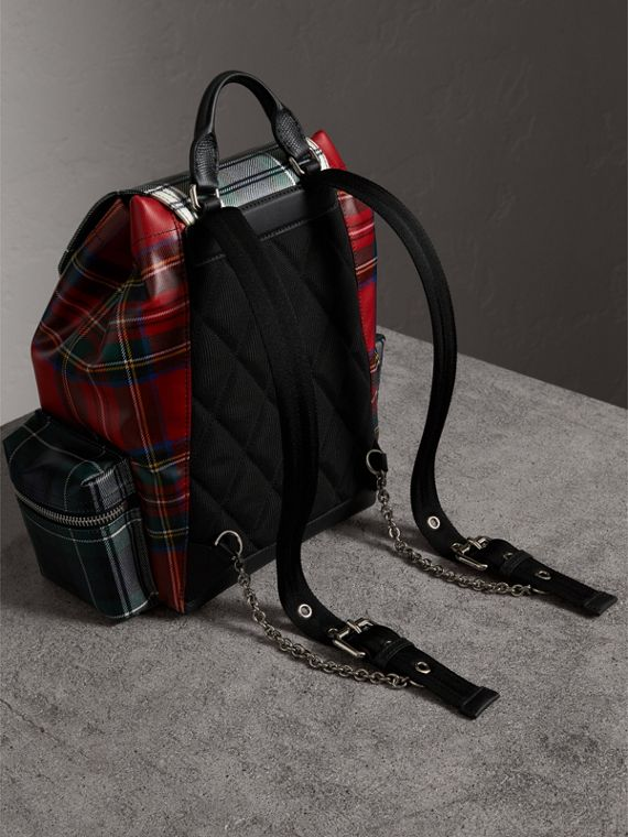 The Medium Rucksack in Laminated Tartan in Military Red - Women | Burberry - cell image 3