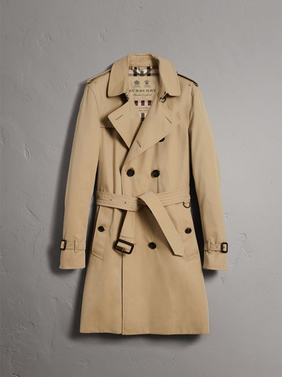 The Sandringham – Long Trench Coat in Honey - Men | Burberry United States - cell image 3