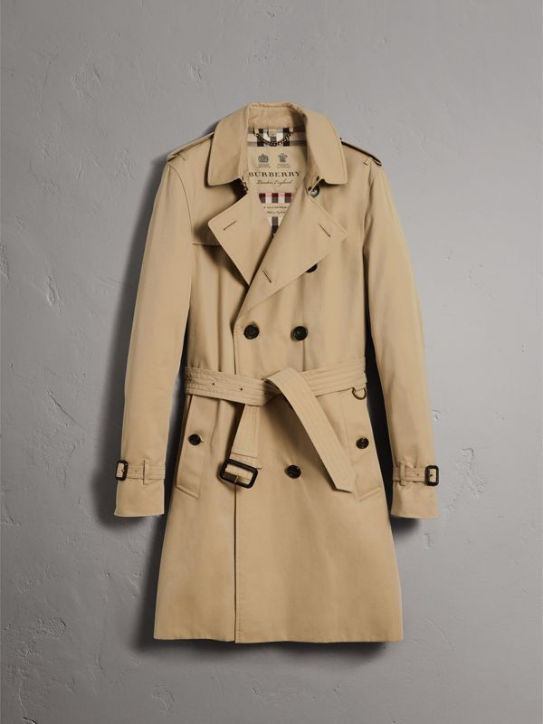 The Sandringham – Long Trench Coat in Honey - Men | Burberry United Kingdom - cell image 3