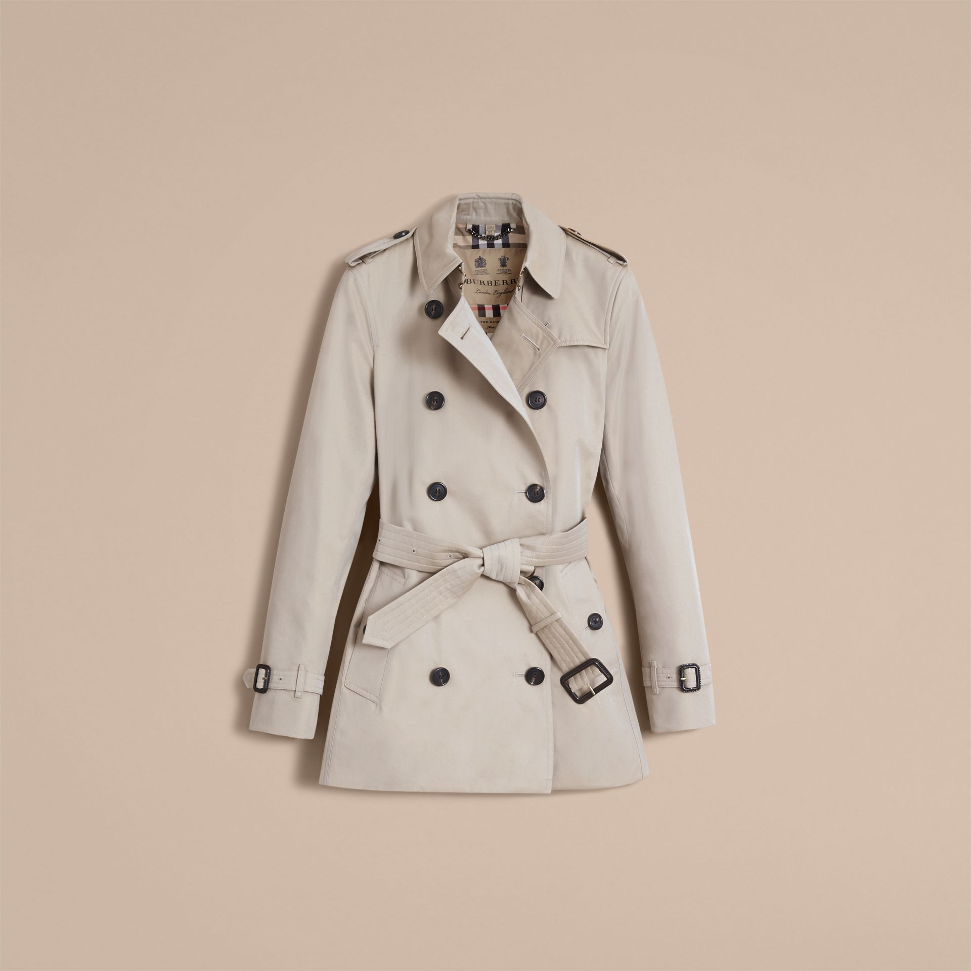 Stone The Kensington – Short Heritage Trench Coat Stone - gallery image 4