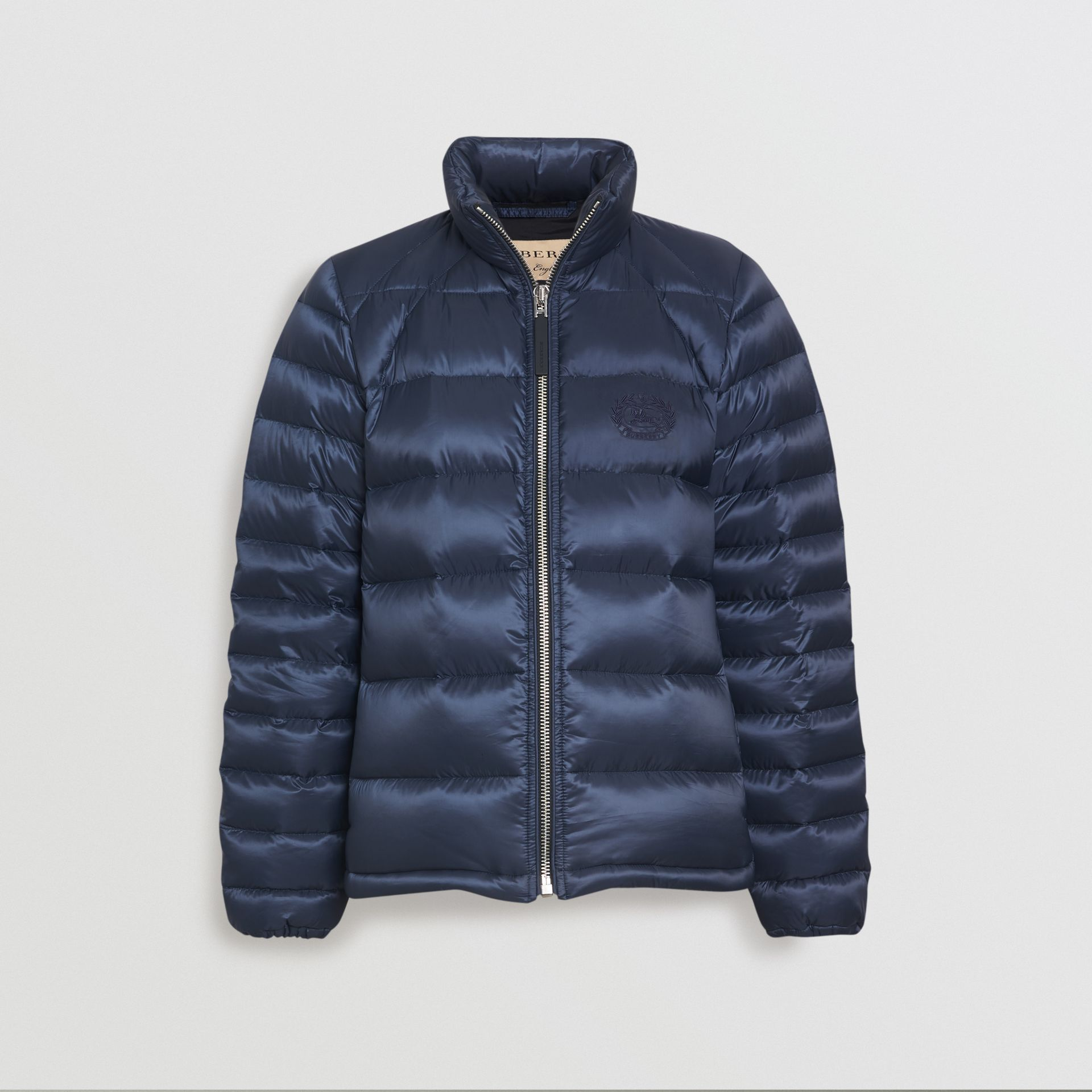 Down-filled Puffer Jacket in Navy - Women | Burberry Australia - gallery image 2