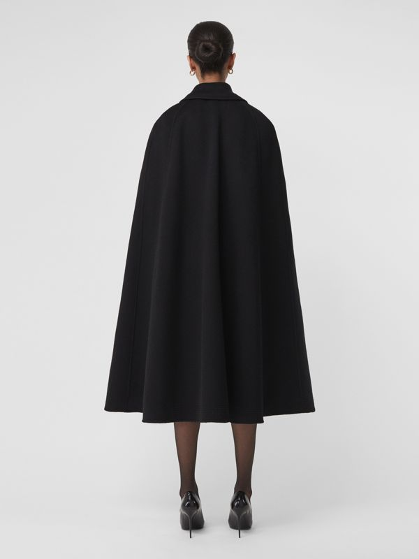 Double-faced Cashmere Belted Cape in Black - Women | Burberry United States - cell image 2