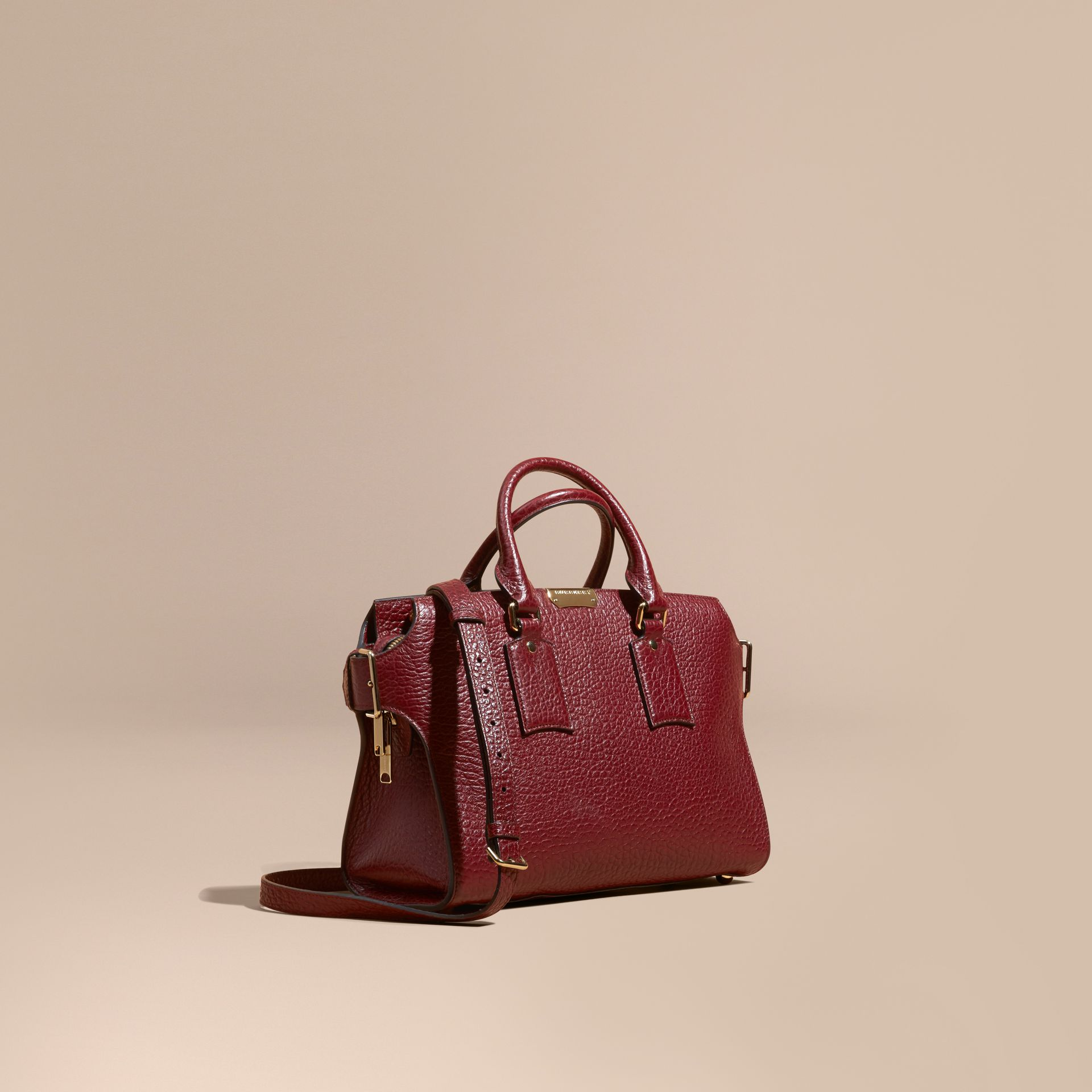 Deep red The Medium Clifton in Signature Grain Leather - gallery image 1