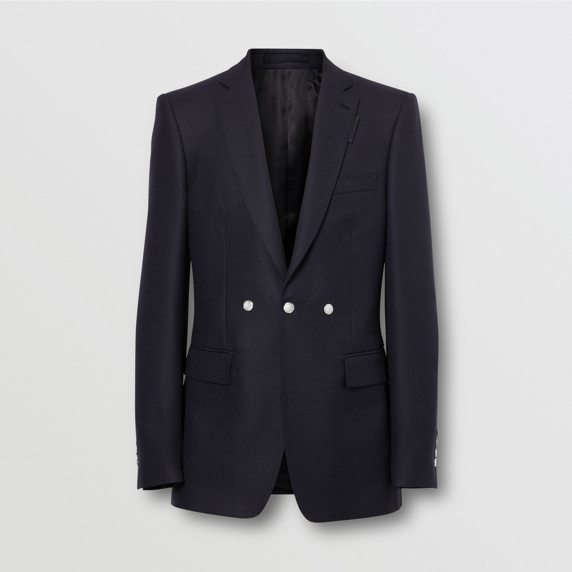 English Fit Triple Stud Wool Mohair Tailored Jacket in Midnight Blue - Men | Burberry Australia - gallery image 3