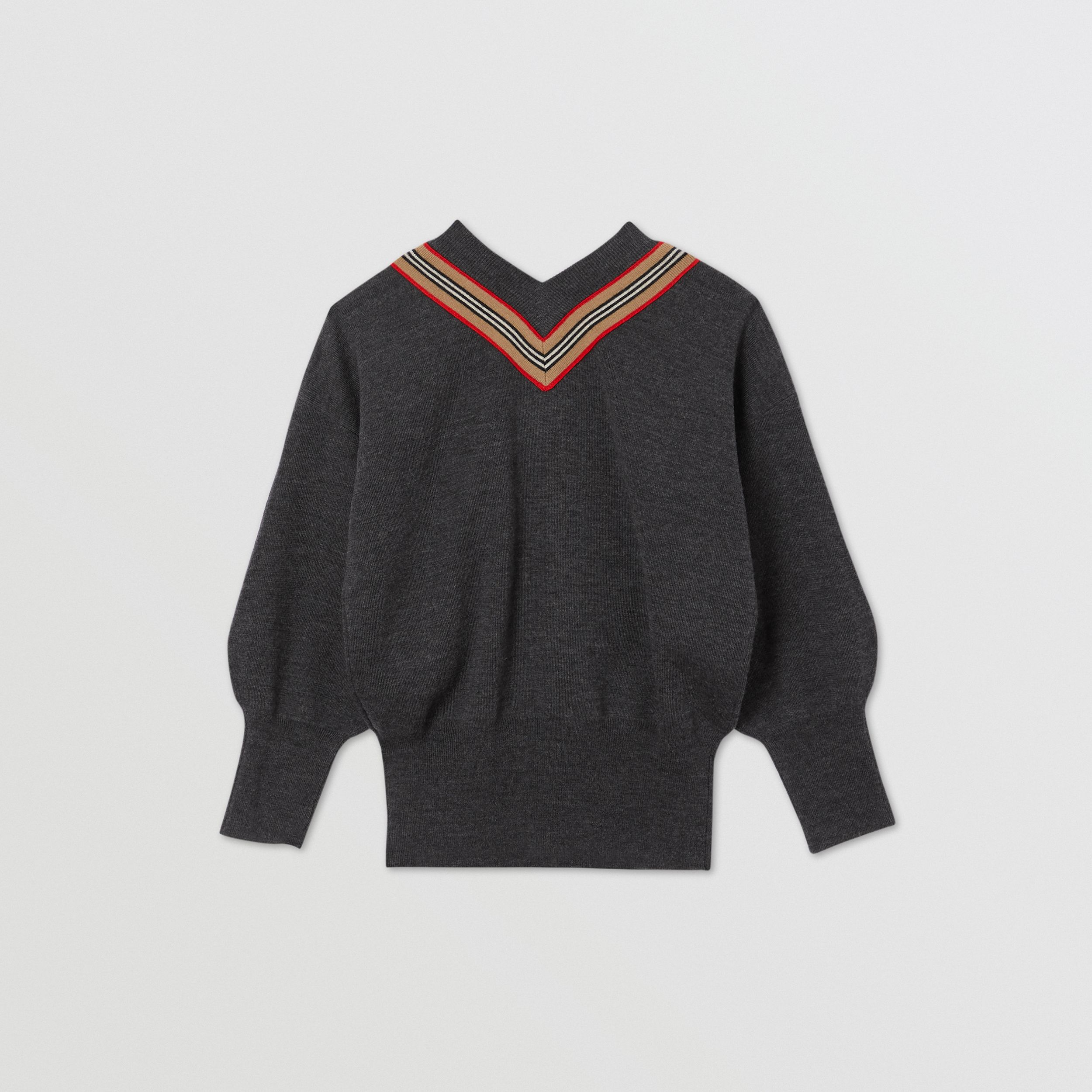 Icon Stripe Bow Merino Wool Silk Sweater | Burberry - 4