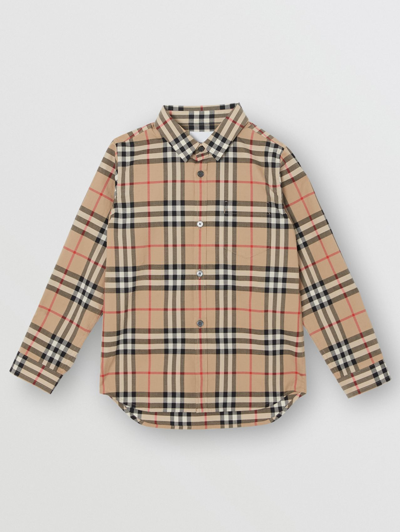 Vintage Check Cotton Poplin Shirt in Archive Beige