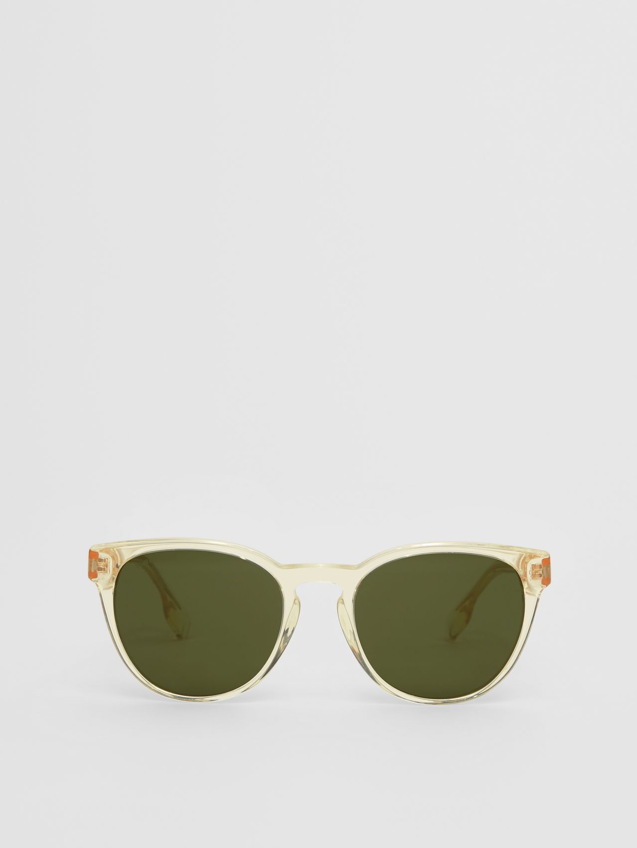 Round Frame Sunglasses in Pale Yellow