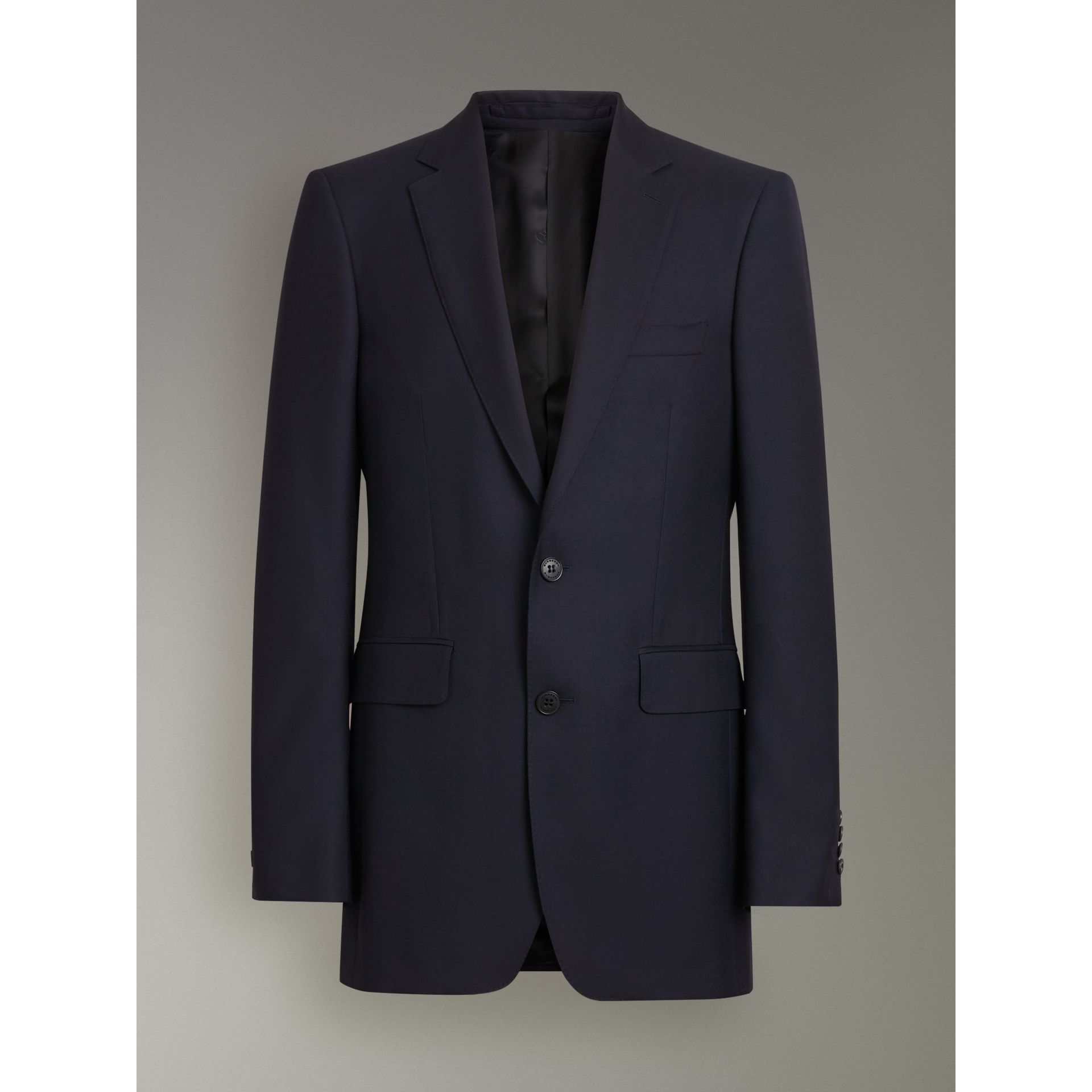 Modern Fit Wool Twill Suit in Navy - Men | Burberry - gallery image 3