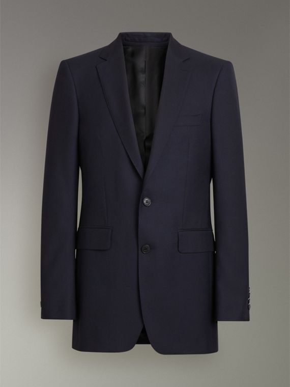 Modern Fit Wool Twill Suit in Navy - Men | Burberry - cell image 3