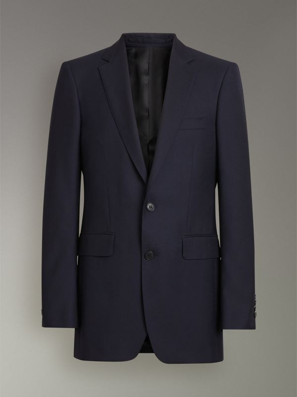 Classic Fit Wool Twill Suit in Navy - Men | Burberry United Kingdom - cell image 3