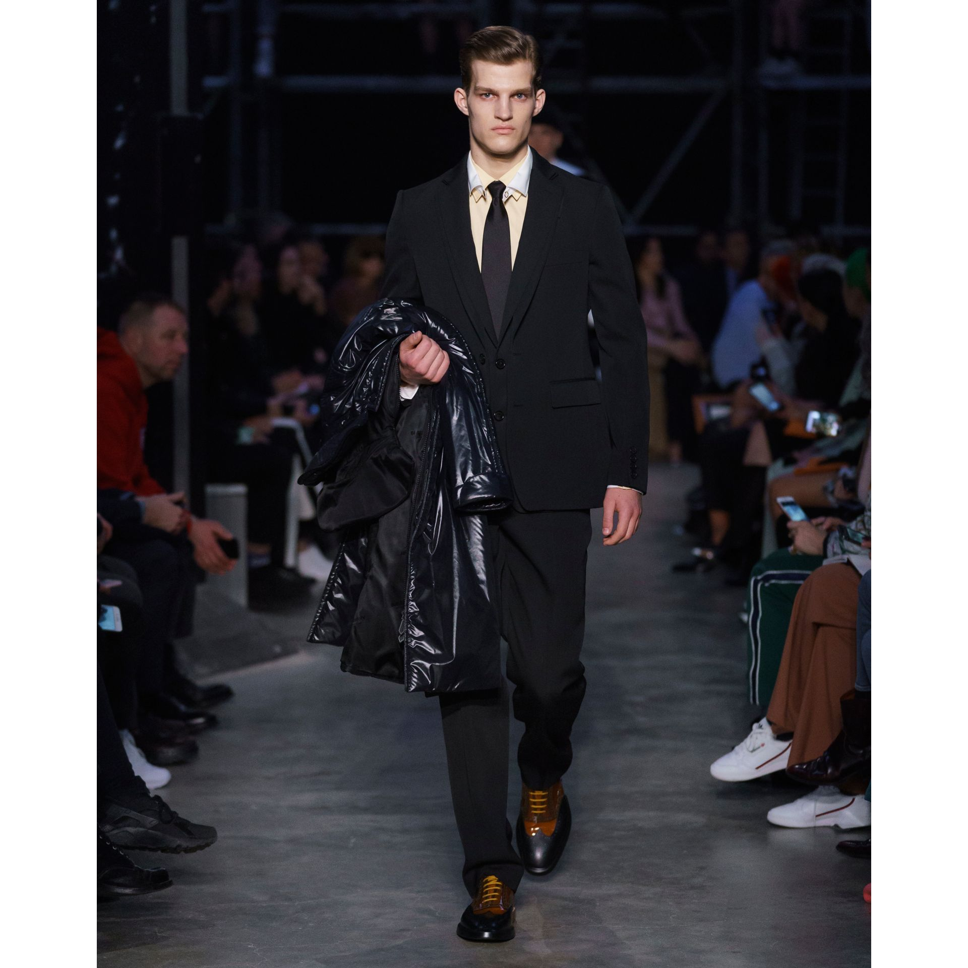 English Fit Reconstructed Wool Tailored Jacket in Black - Men | Burberry - gallery image 6