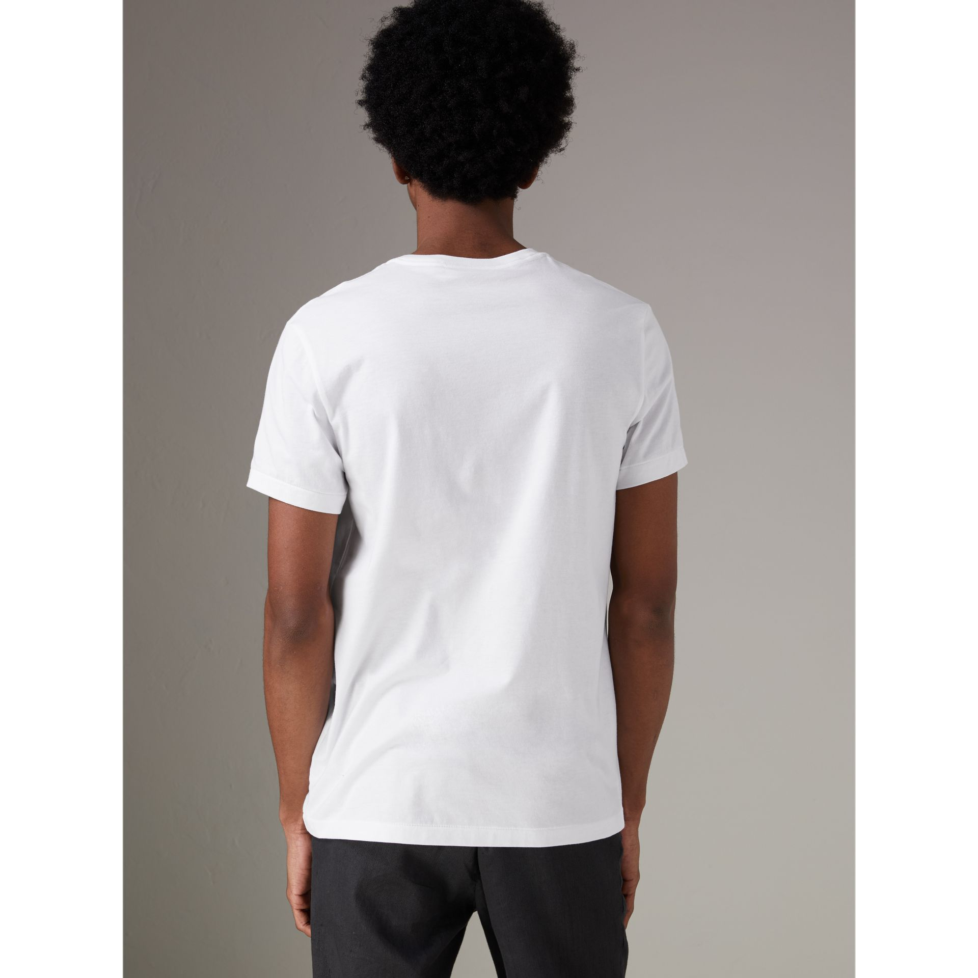 Cotton Jersey T-shirt in White - Men | Burberry United Kingdom - gallery image 2