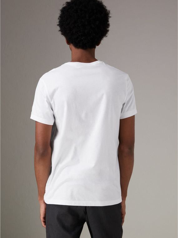 Cotton Jersey T-shirt in White - Men | Burberry United Kingdom - cell image 2