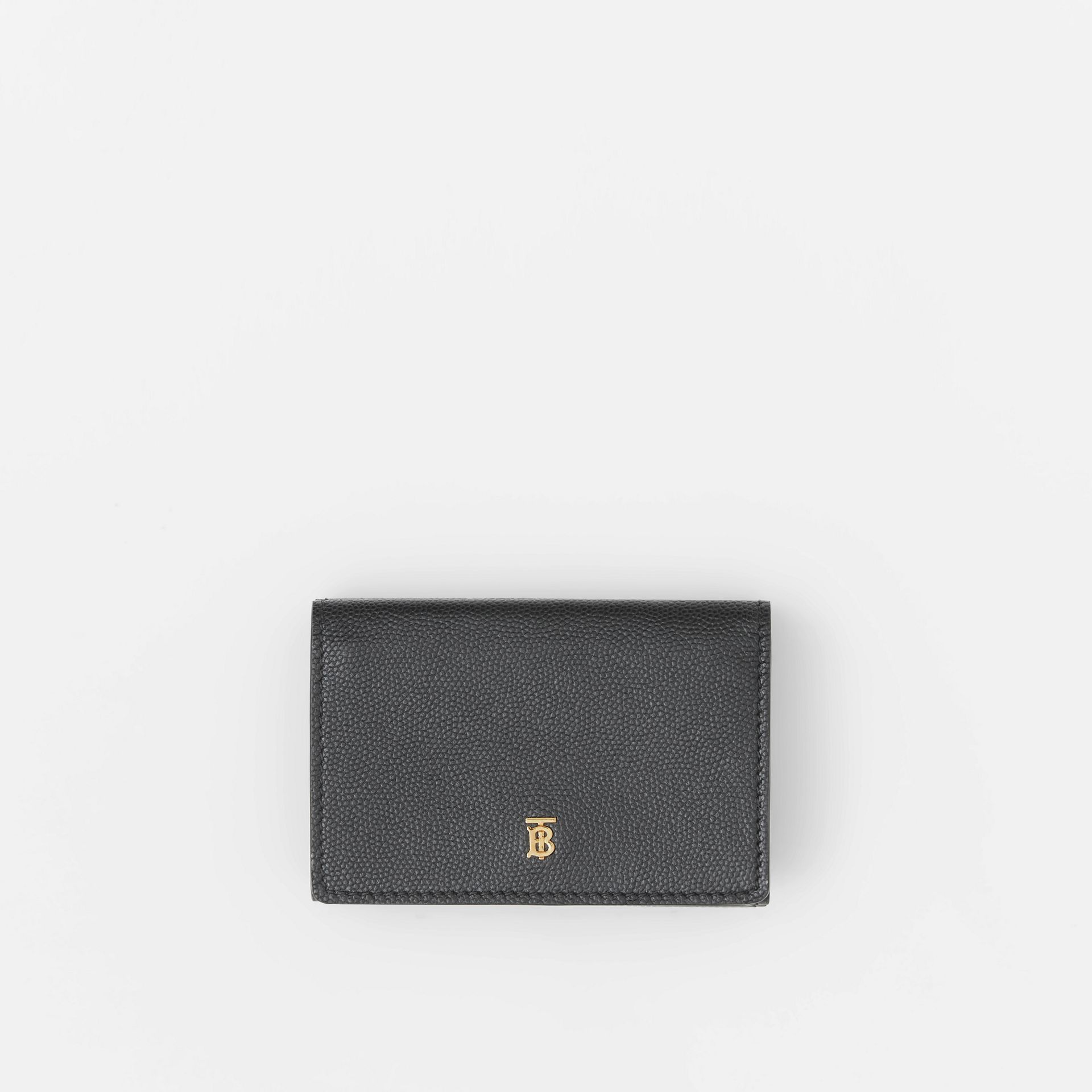 Small Grainy Leather Folding Wallet in Black - Women | Burberry - gallery image 0
