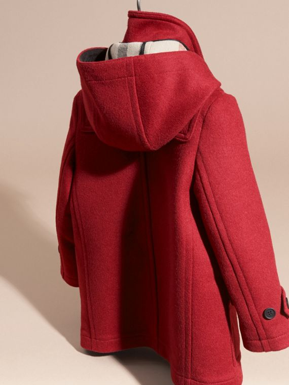 Windsor red Wool Duffle Coat with Check and Hearts Lining - cell image 3
