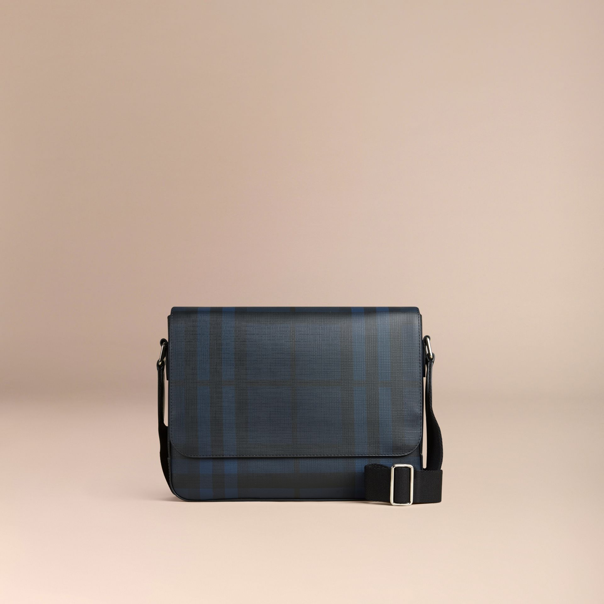 Navy/black Small London Check Messenger Bag Navy/black - gallery image 7