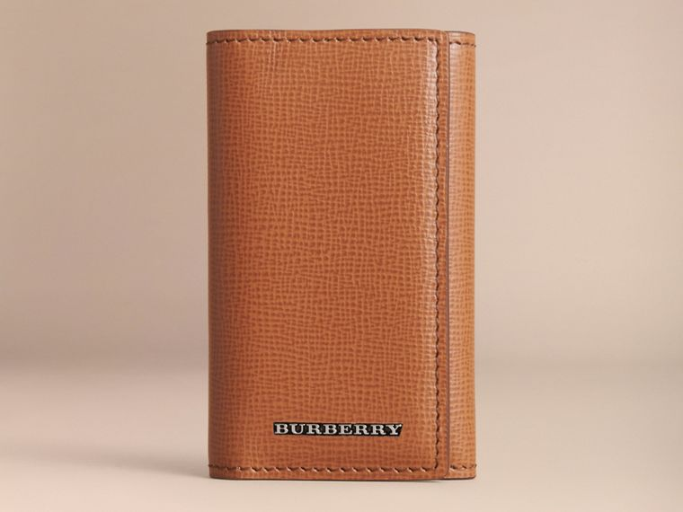 London Leather Key Holder - Men | Burberry - cell image 4