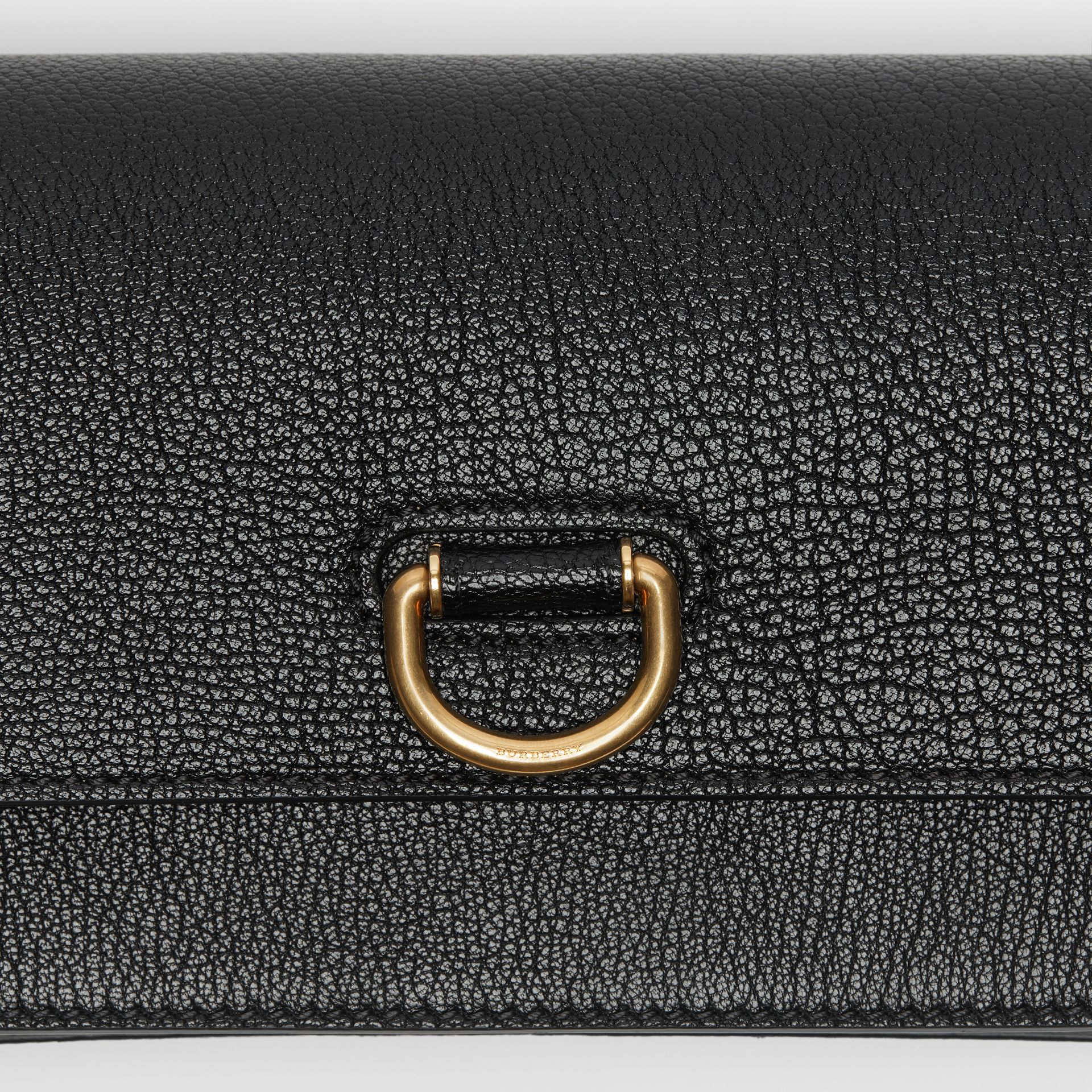 The Mini Leather D-ring Bag in Black - Women | Burberry - gallery image 1