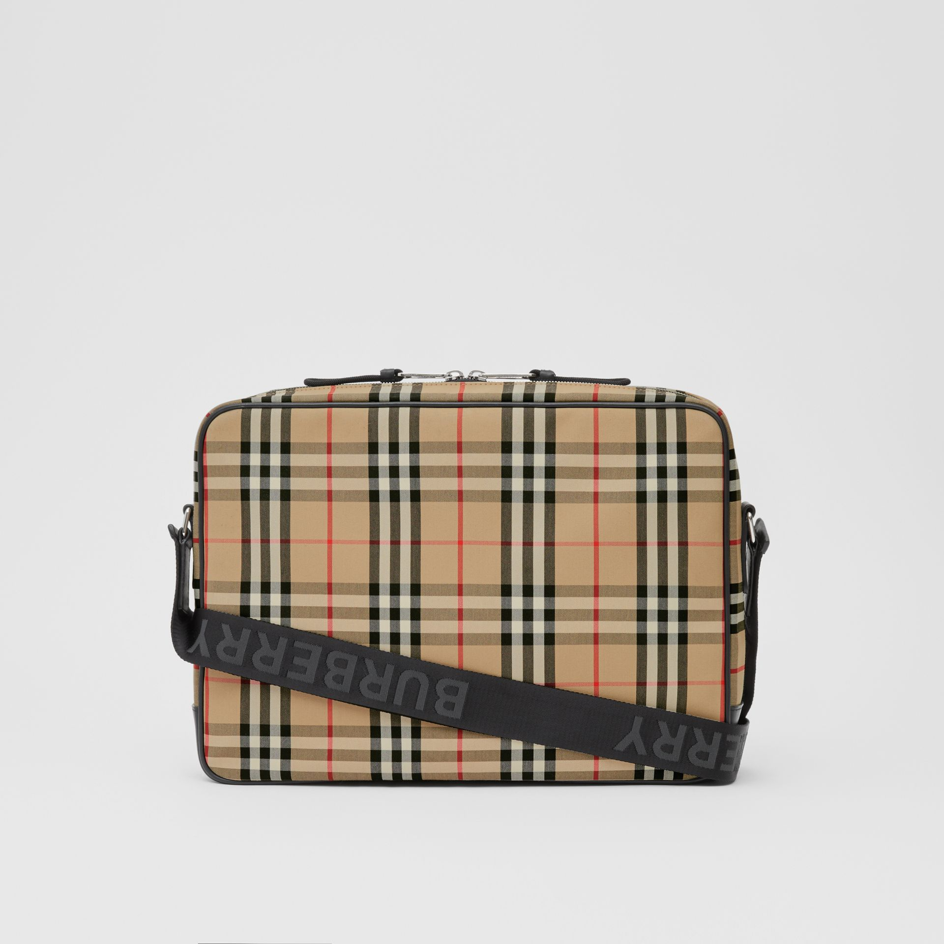 Vintage Check Cotton Messenger Bag in Archive Beige - Men | Burberry Hong Kong S.A.R - gallery image 7