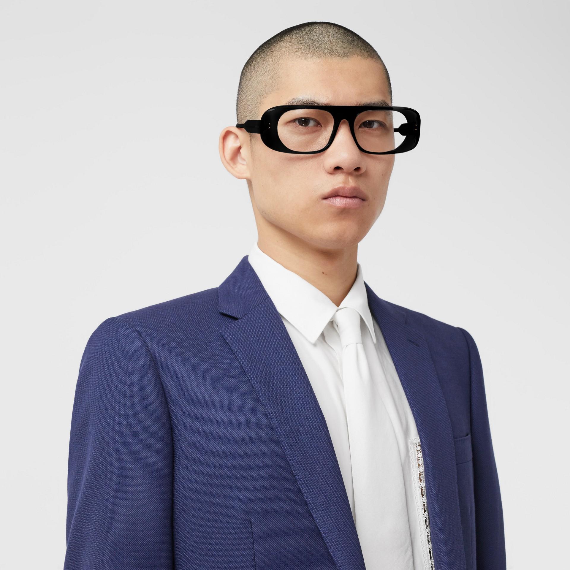 Классический пиджак из шерсти с узором «птичий глаз» (Насыщенный Темно-синий) - Для мужчин | Burberry - изображение 1