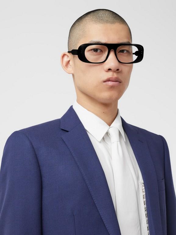 Классический пиджак из шерсти с узором «птичий глаз» (Насыщенный Темно-синий) - Для мужчин | Burberry - cell image 1