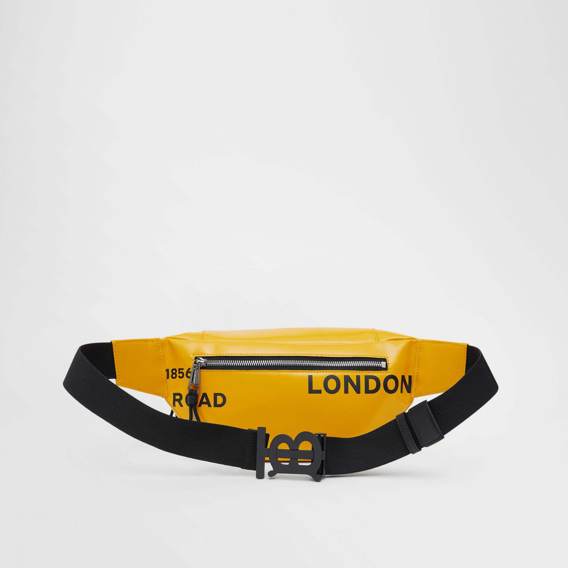 Medium Horseferry Print Bum Bag in Yellow | Burberry - gallery image 7