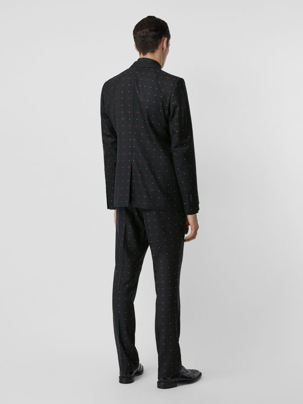 English Fit Fil Coupé Wool Cotton Tailored Jacket in Black - Men | Burberry - cell image 2