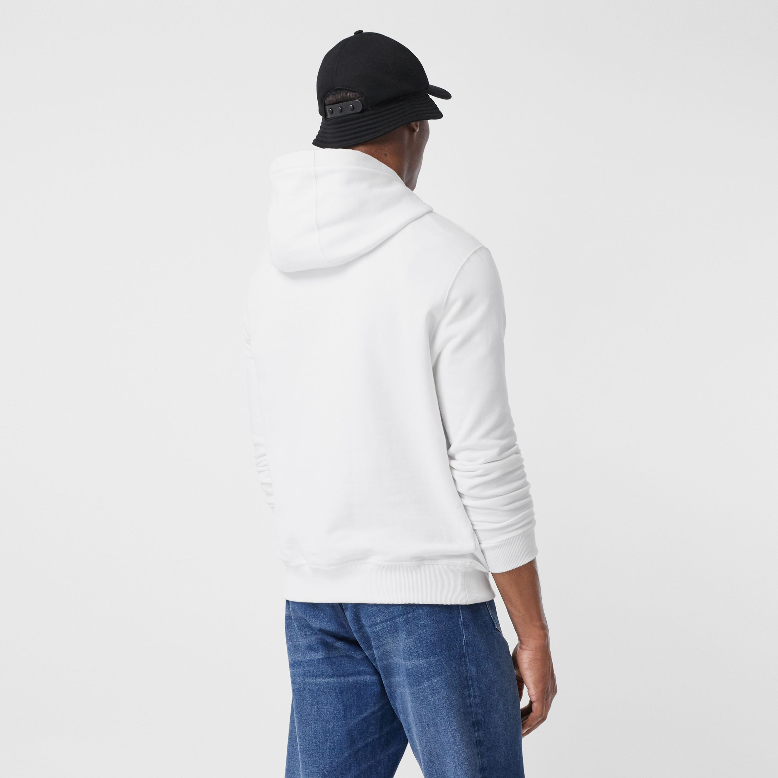 Monogram Motif Cotton Hoodie in White - Men | Burberry - 3