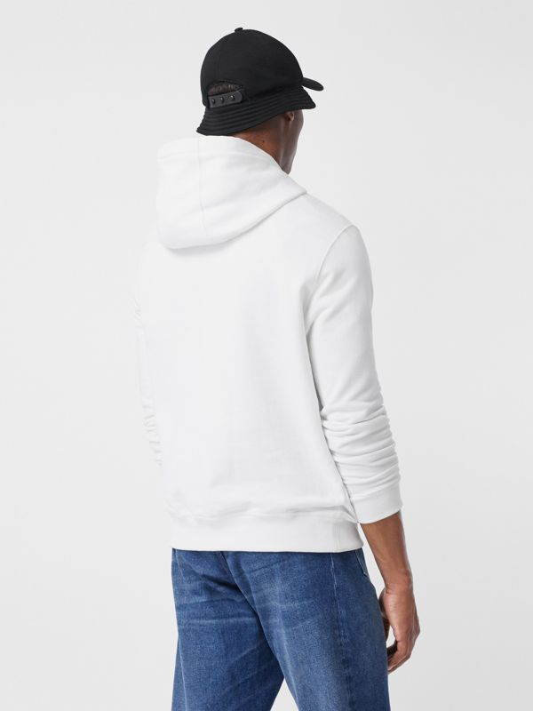 Monogram Motif Cotton Hoodie in White - Men | Burberry - cell image 2