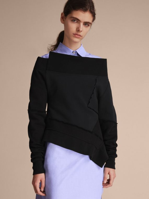 Sculptured-sleeve Seam Detail Sweatshirt
