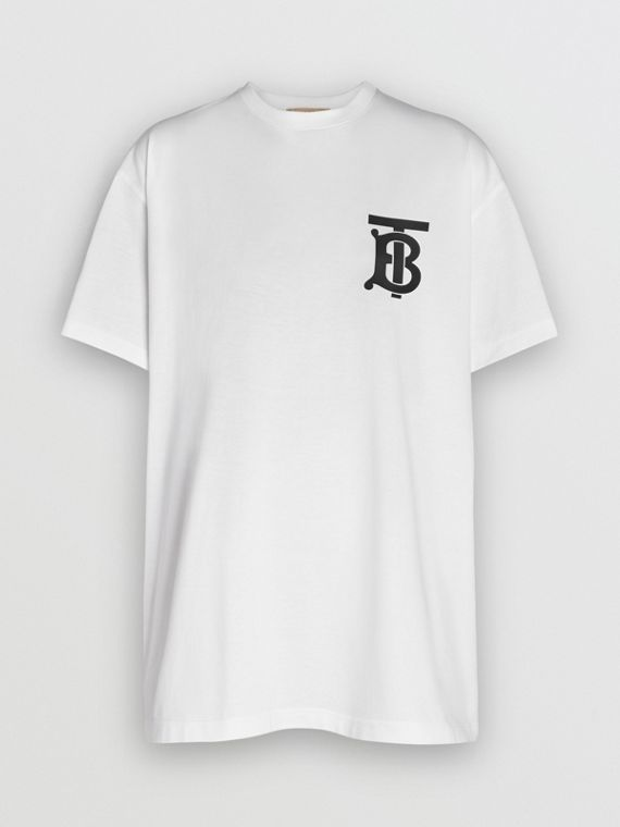 Monogram Motif T-shirt in White