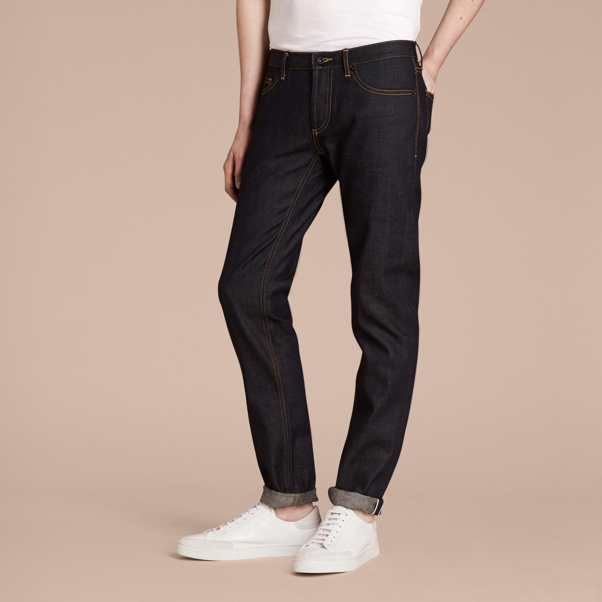 Indigo Skinny Fit Indigo Selvedge Jeans - gallery image 4