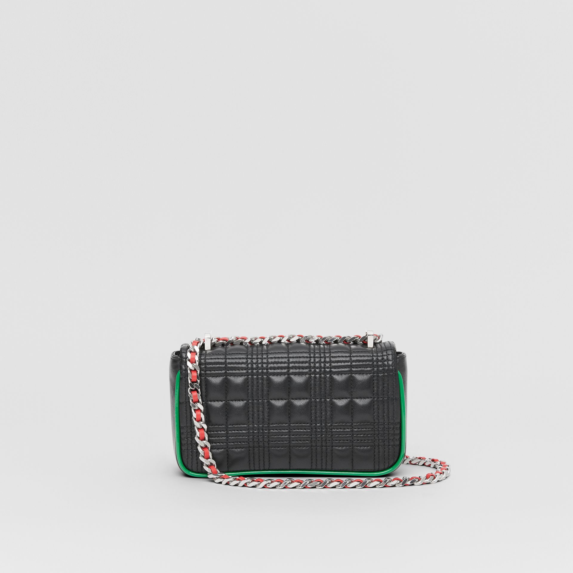 Mini Quilted Lambskin Lola Bag in Black - Women | Burberry - gallery image 7