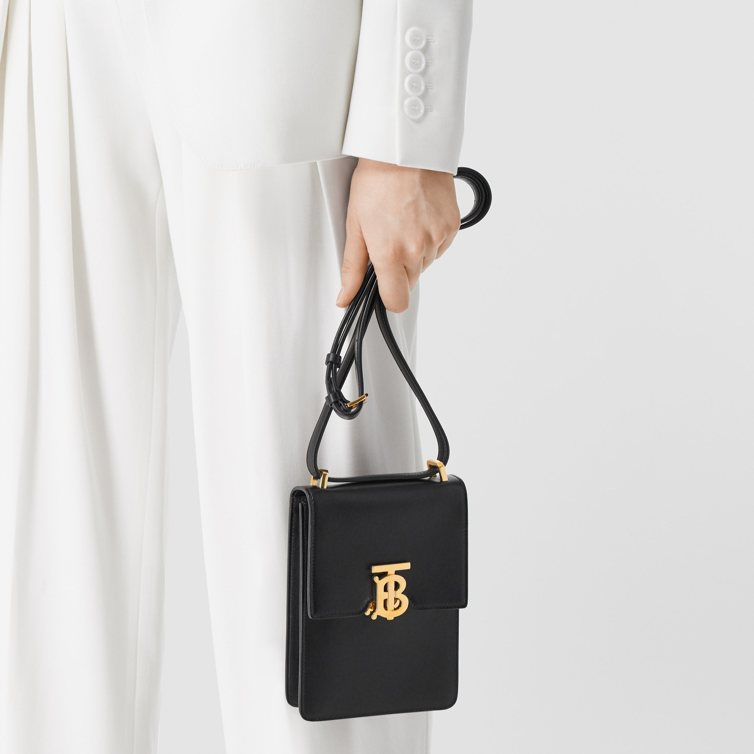 Leather Robin Bag in Black | Burberry - 3