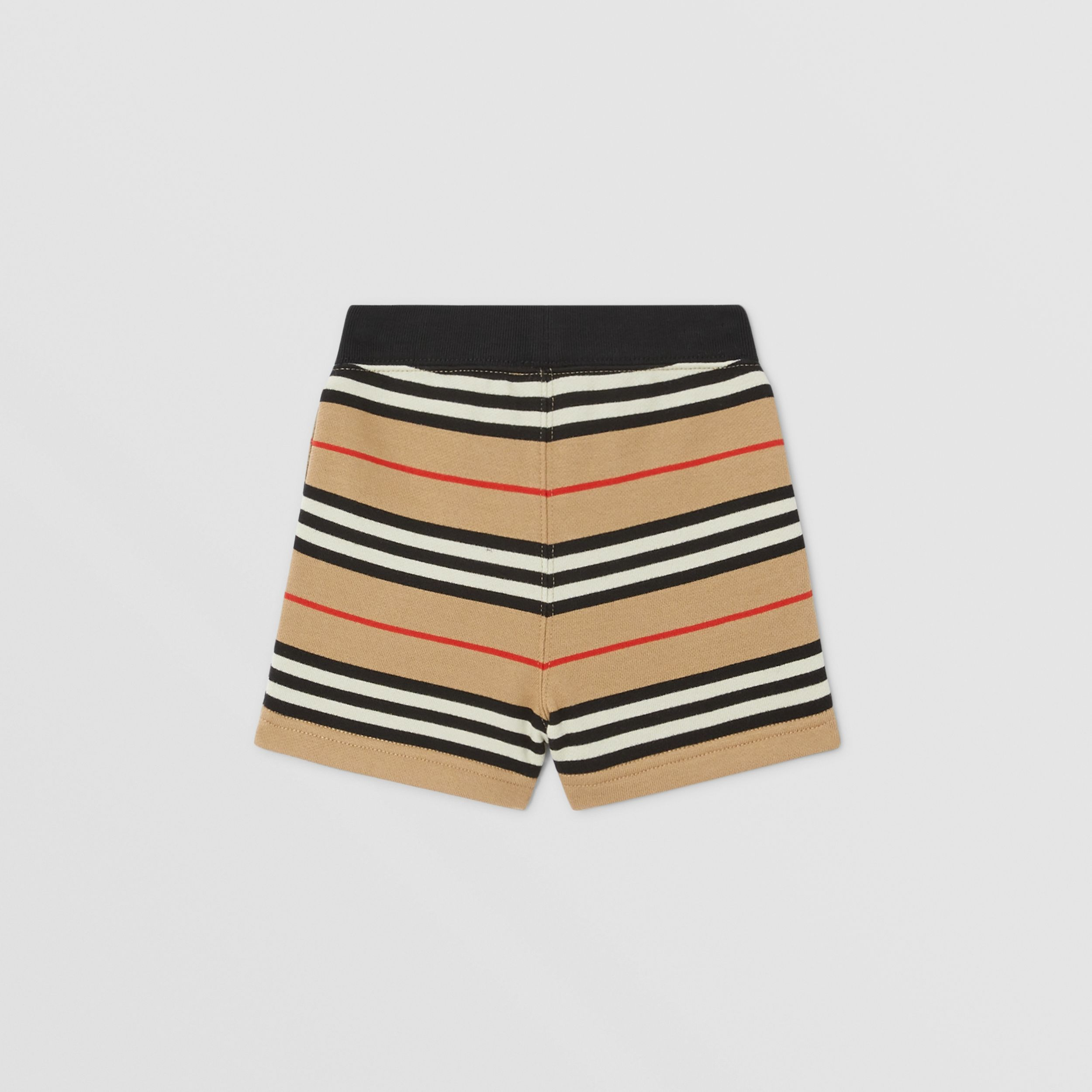 Icon Stripe Cotton Shorts in Archive Beige - Children | Burberry United Kingdom - 4