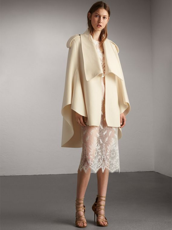 Tailored Wool Cashmere Cape - Women | Burberry Canada