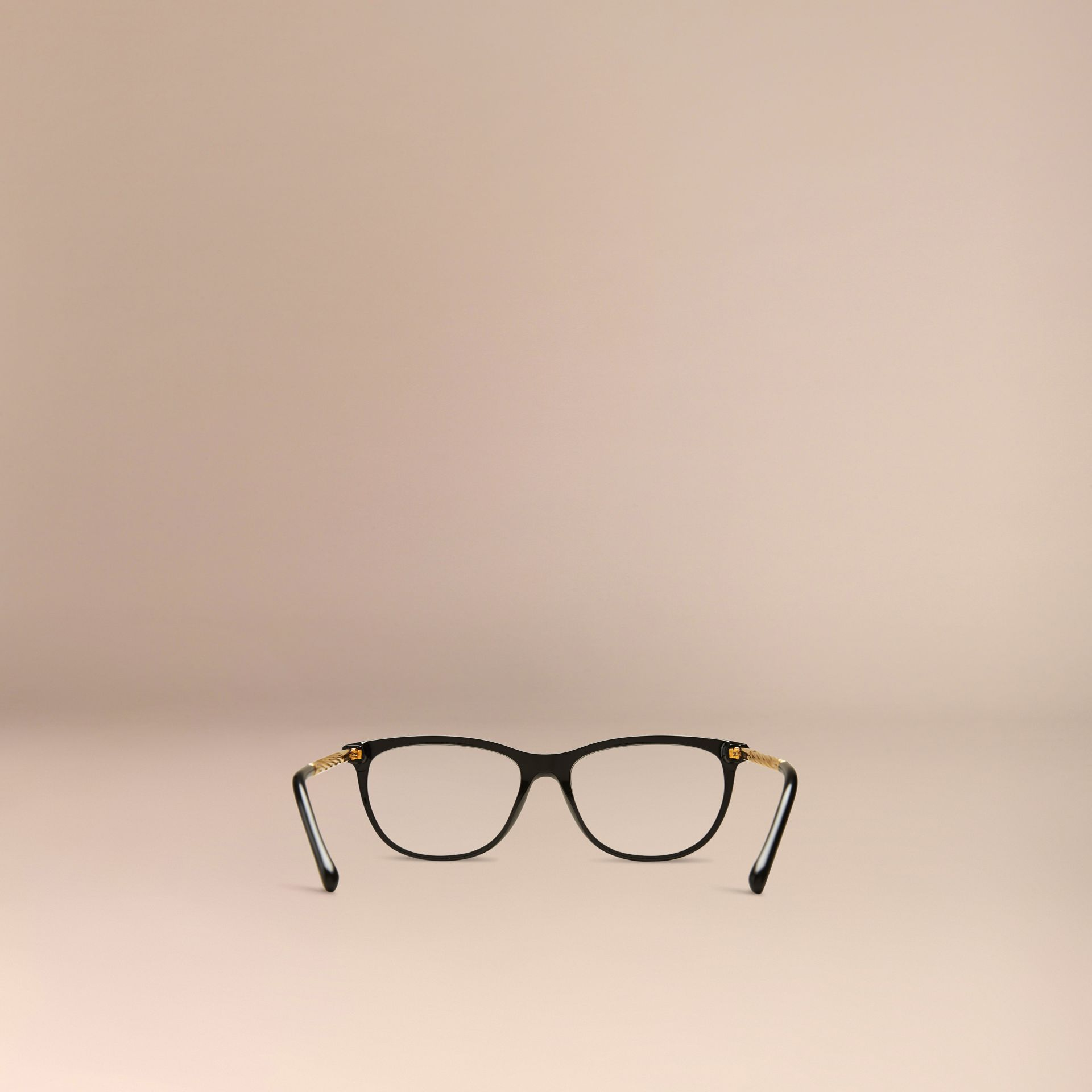 Black Gabardine Collection Cat-Eye Optical Frames Black - gallery image 3
