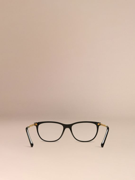 Gabardine Collection Cat-Eye Optical Frames in Black - cell image 2