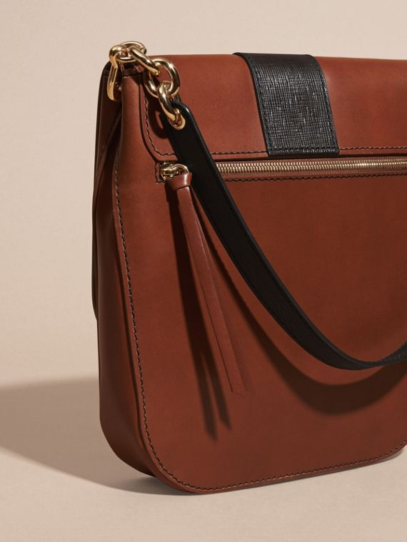Tan The Buckle Satchel in Smooth Leather - cell image 3