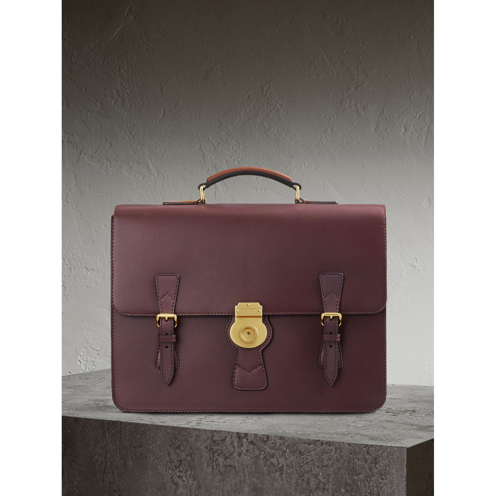 The Medium DK88 Satchel in Wine - Men | Burberry Hong Kong - gallery image 1
