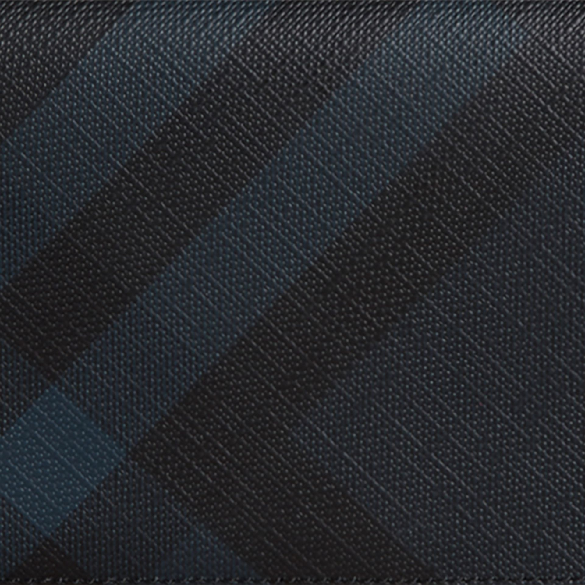 London Check and Leather Continental Wallet in Navy/black - Men | Burberry Australia - gallery image 2