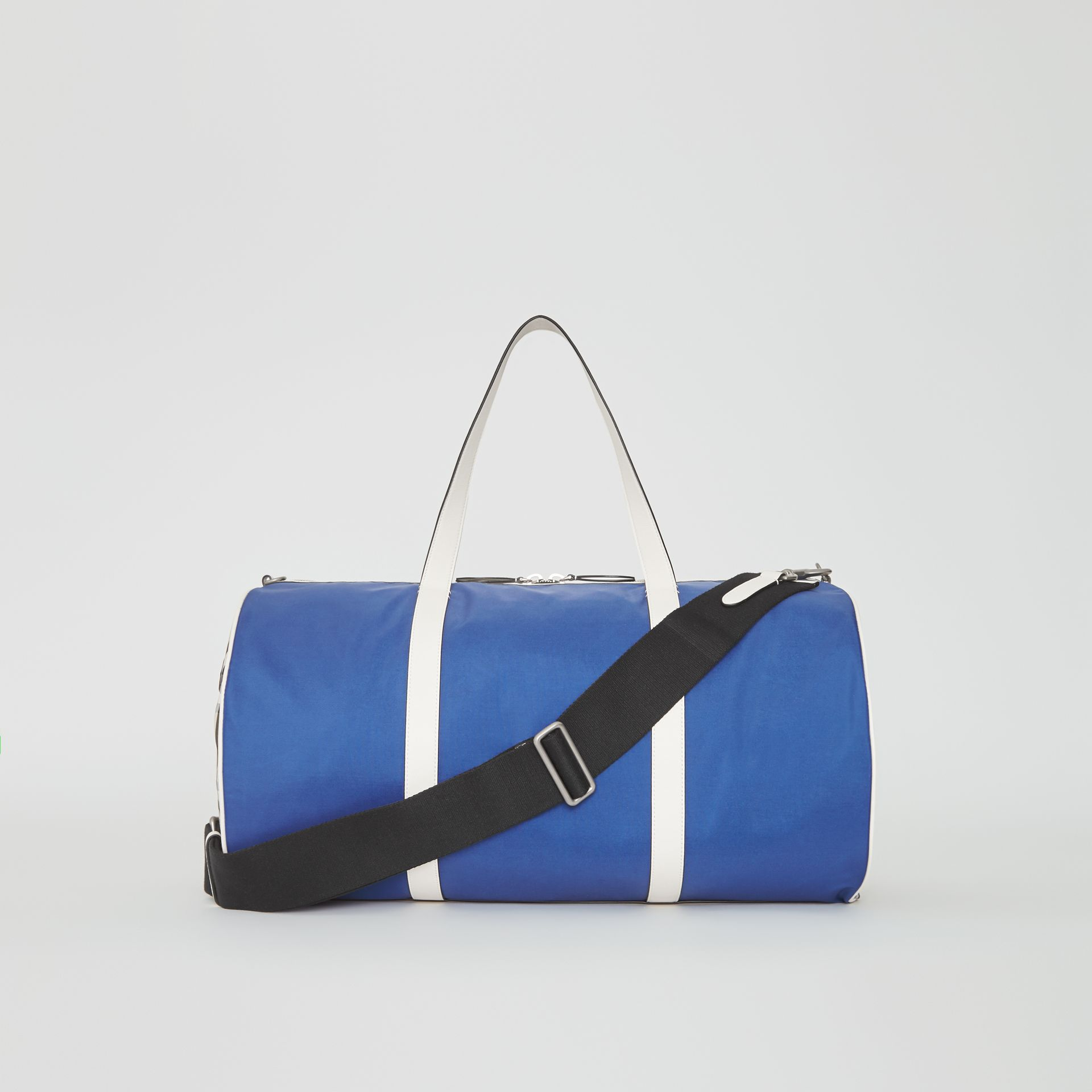 Large Colour Block Vintage Check Barrel Bag in Dark Canvas Blue - Men | Burberry Singapore - gallery image 7