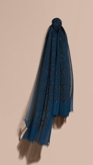 Foulard en soie à imprimé python
