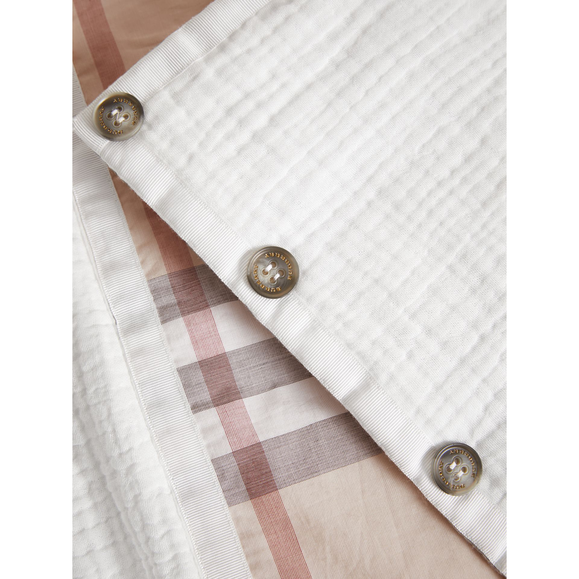 Quilted Cotton Baby Nest in White | Burberry - gallery image 1