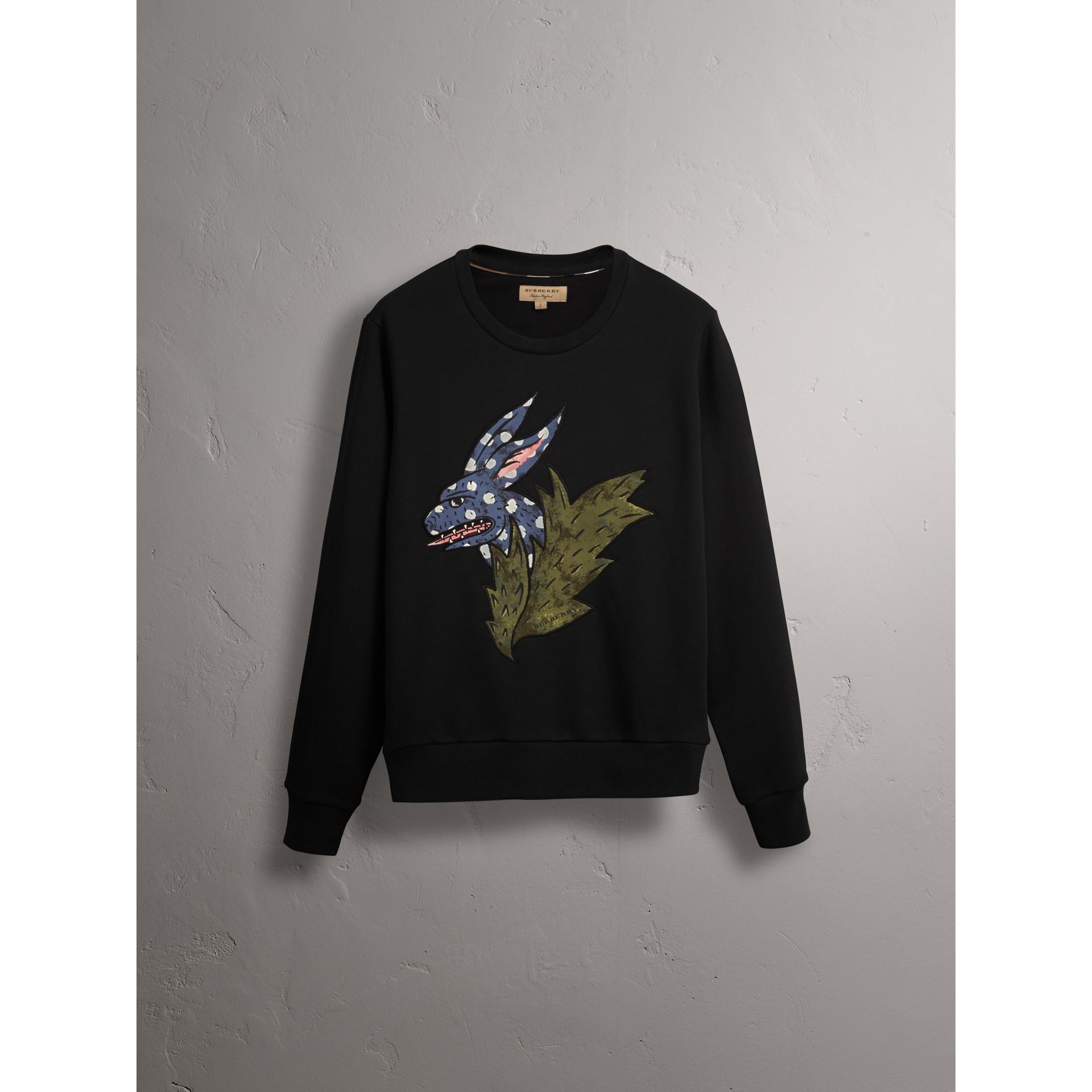 Beasts Motif Cotton Sweatshirt - Women | Burberry Hong Kong - gallery image 4