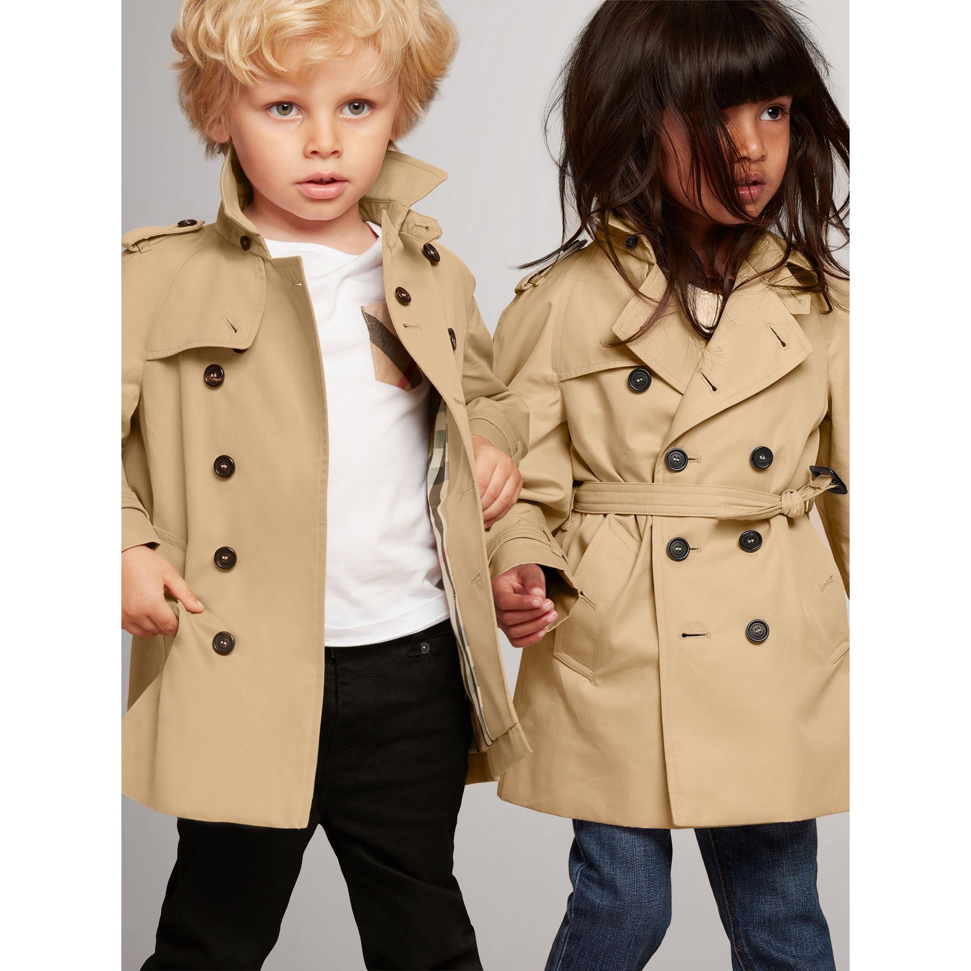 The Wiltshire Trench Coat in Honey - Children | Burberry - gallery image 0