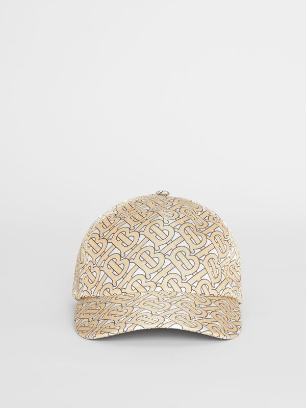 Monogram Print Baseball Cap in Camel - Women | Burberry Australia - cell image 2